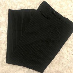 New York & Co Black Dress Pants w/Blue Pin Stripes